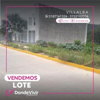 Lote en Barrio Villalba